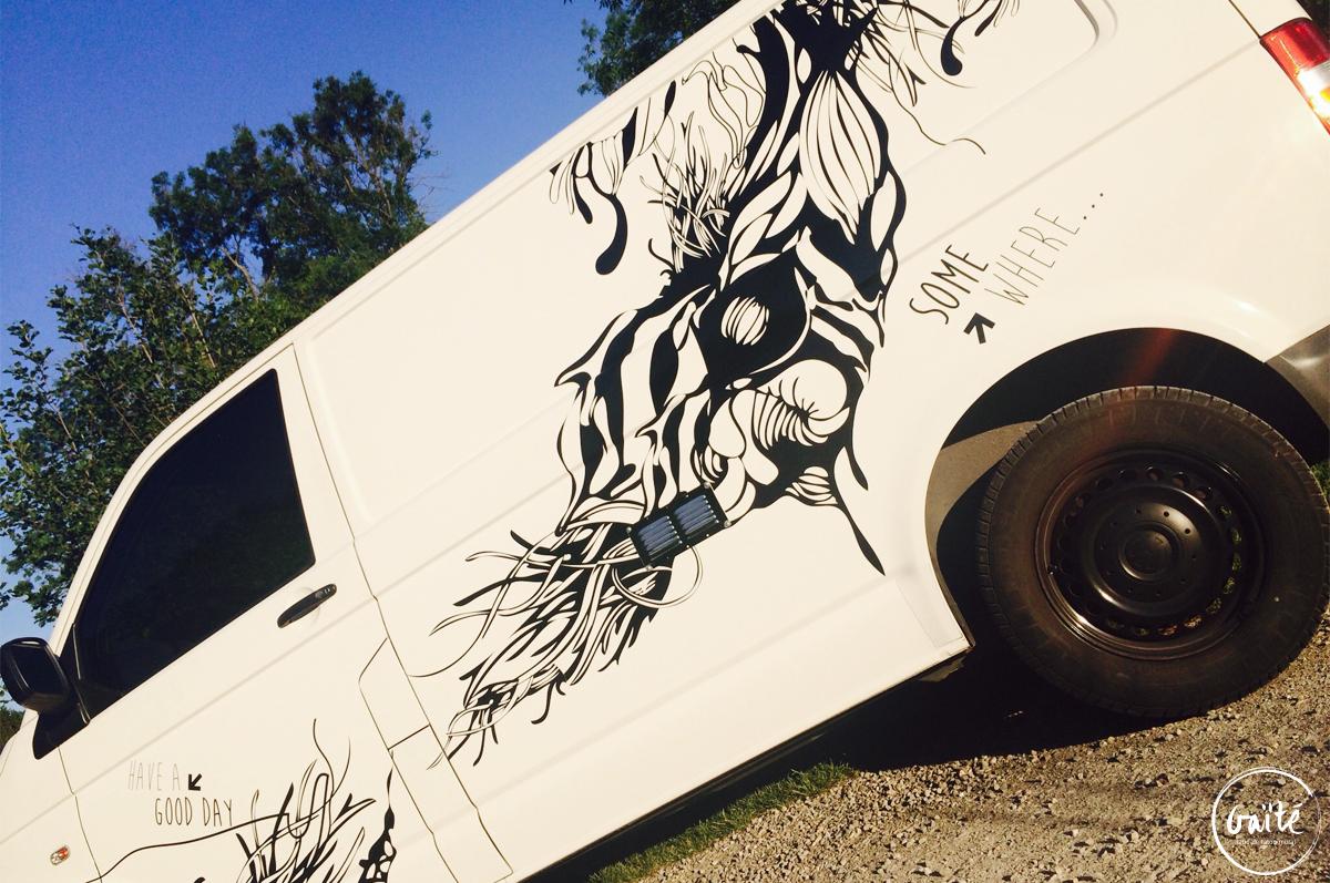 Tatoo artistique d'un véhicule VW T5