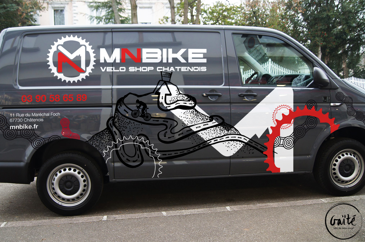 Tatoo artistique du VW T6 MN Bike