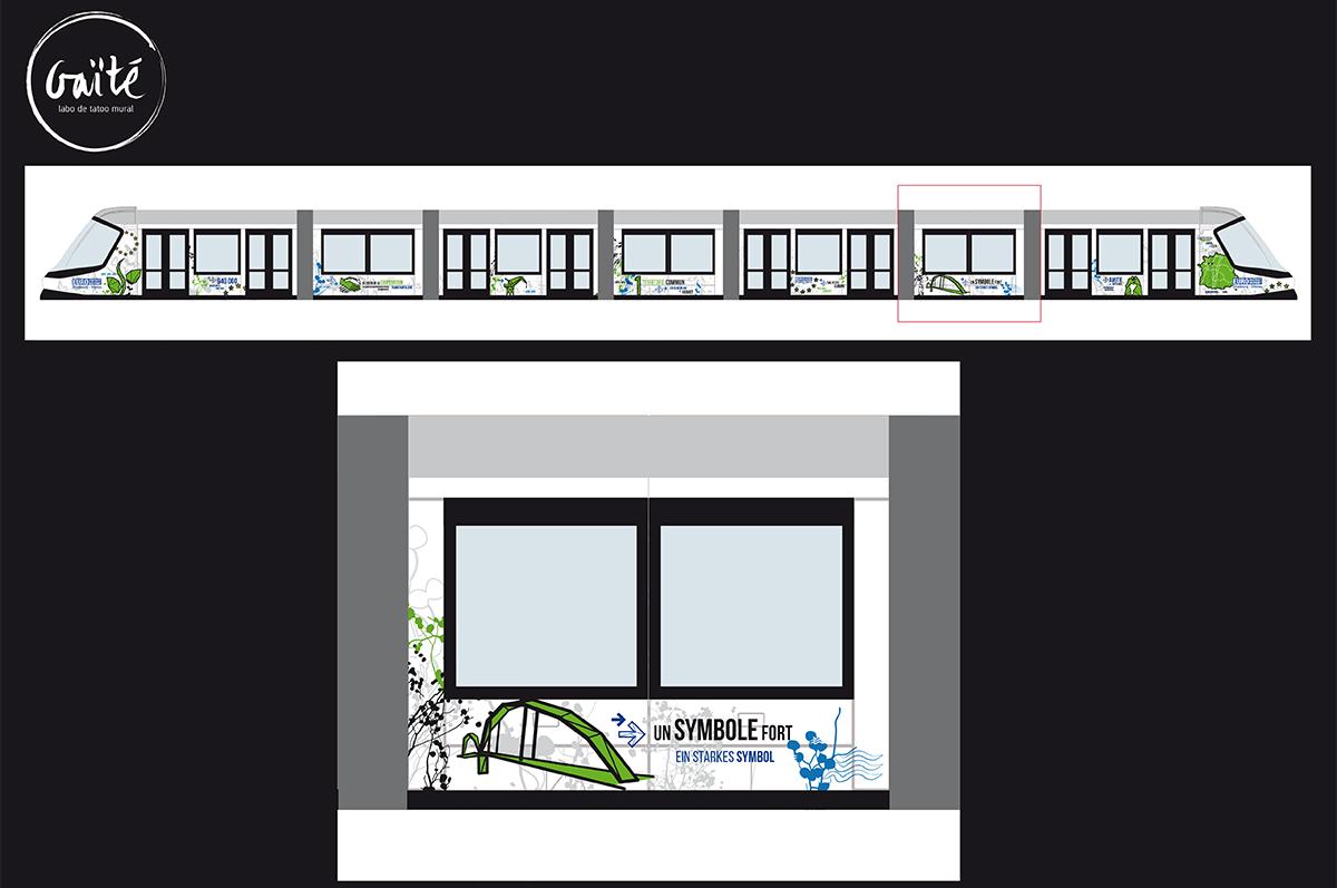 Tram entre Strasbourg et Kehl